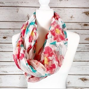 White Floral Solid Wrap Scarf